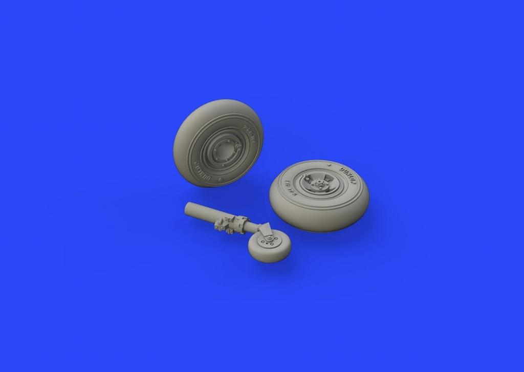 【新製品】ブラッシン672146)スピットファイアMk.VIII 車輪 4スポーク スムーズトレッド