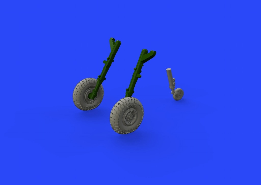【新製品】ブラッシン672147)スピットファイアMk.VIII 車輪 4スポーク ブロックトレッド