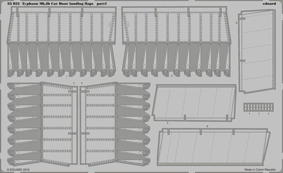 【新製品】23023)ホーカー タイフーン Mk.Ib カードア フラップ