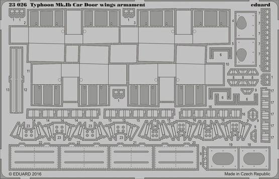 【新製品】23026)ホーカー タイフーン Mk.Ib 翼内機銃部