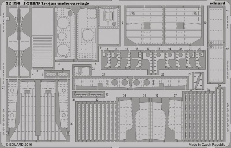 【新製品】32390)T-28B/D トロージャン 胴体下部