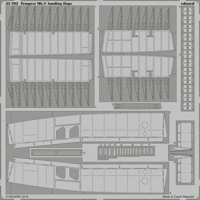 【新製品】32392)ホーカー テンペスト Mk.V フラップ