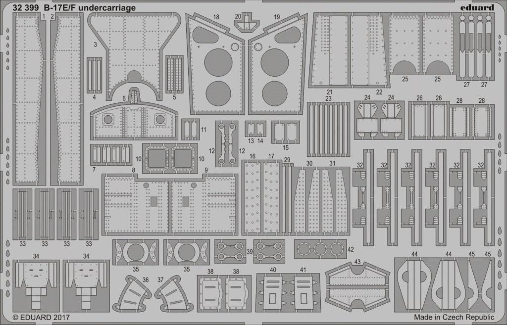 【新製品】32399)ボーイング B-17E/F フライングフォートレス 脚格納庫