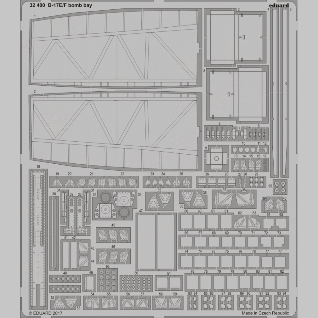 【新製品】32400)ボーイング B-17E/F フライングフォートレス 爆弾槽