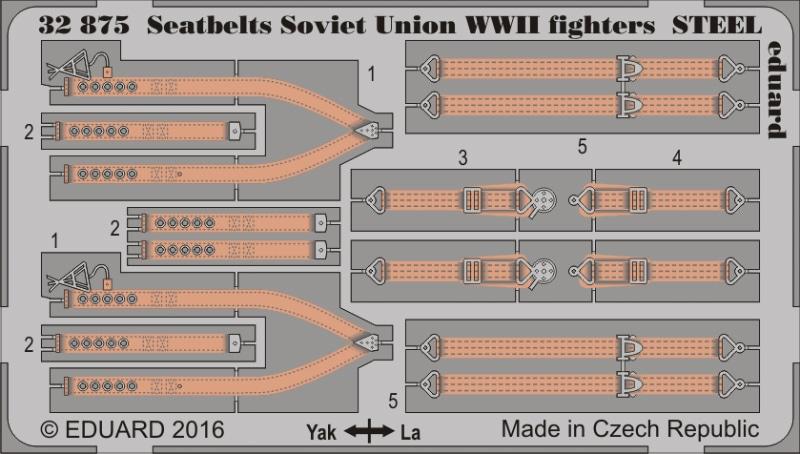 【新製品】32875)塗装済 WWII ソビエト連邦 戦闘機 シートベルト スチール