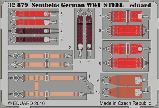 【新製品】32879)塗装済 WWI 独空軍シートベルト