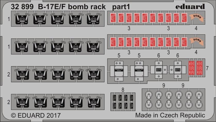 【新製品】32899)塗装済 ボーイング B-17E/F フライングフォートレス爆弾槽