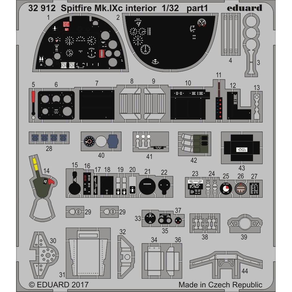 【新製品】32912)塗装済 スピットファイアMk.IXc 内装