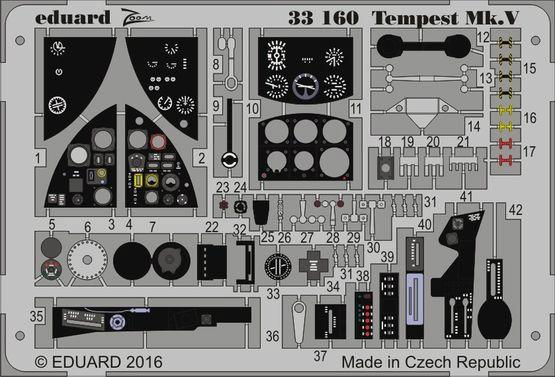 【新製品】33160)塗装済 ホーカー テンペスト Mk.V 計器盤