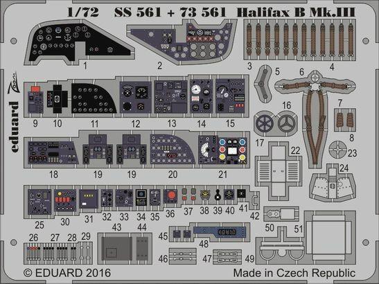 【新製品】SS561)塗装済 ハンドレページ ハリファックス B Mk.III 計器盤