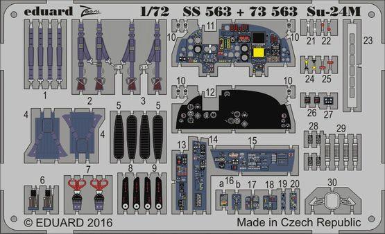 【新製品】SS563)塗装済 スホーイ Su-24M フェンサー 計器盤/シートベルト