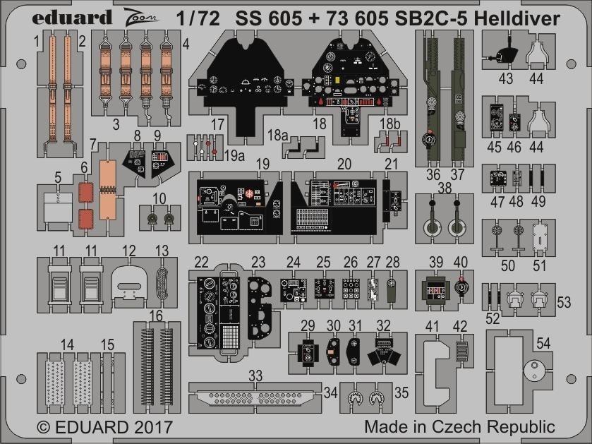 【新製品】SS605)塗装済 SB2C-5 ヘルダイバー