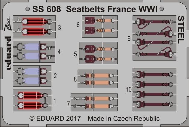 【新製品】SS608)塗装済 WWI 仏空軍 シートベルト