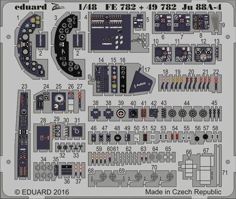 【新製品】FE782)塗装済 ユンカース Ju88A-4 計器盤
