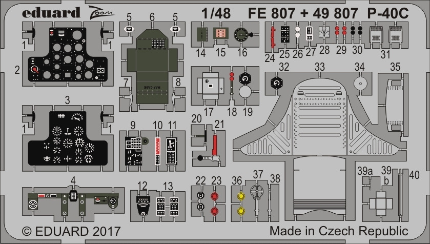 【新製品】FE807)塗装済 P-40C 計器盤