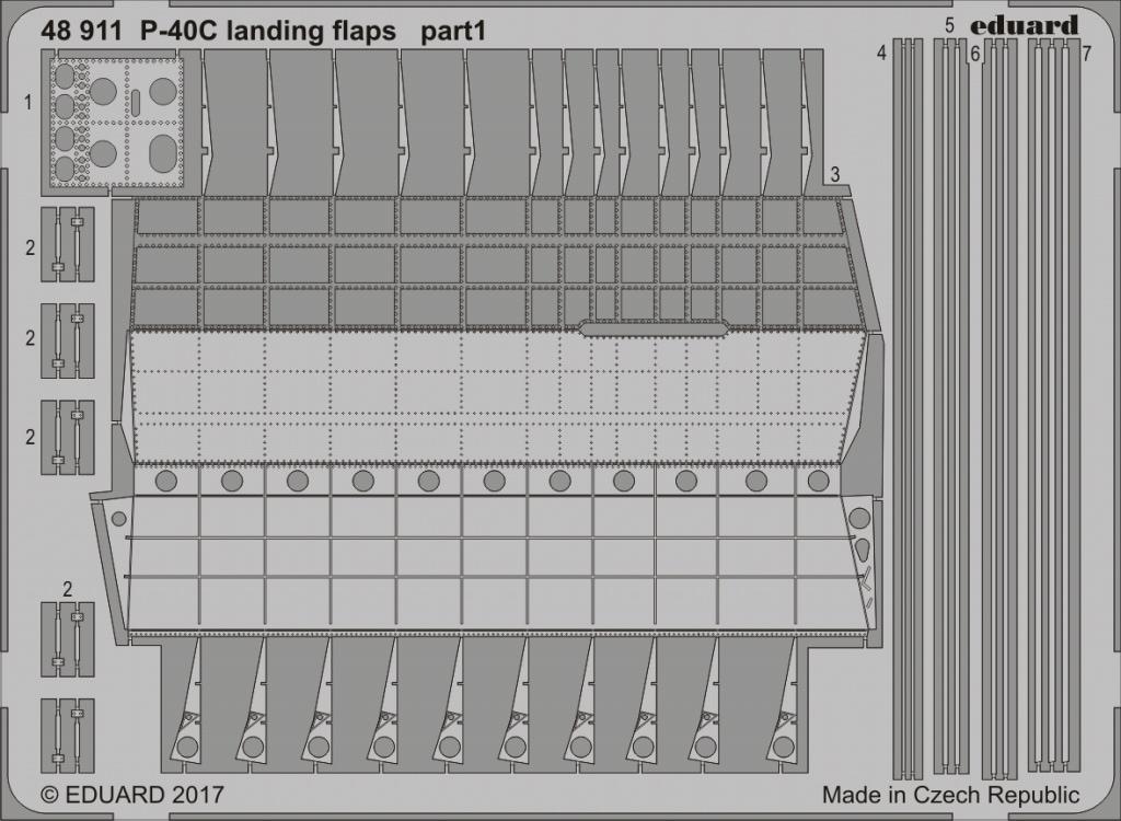【新製品】48911)P-40C フラップ