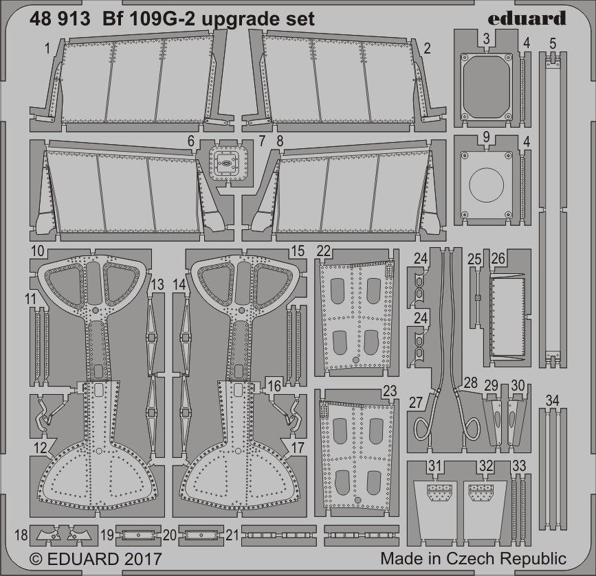 【新製品】48913)メッサーシュミット Bf109G-2 アップグレードセット
