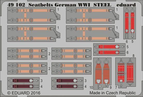 【新製品】49102)塗装済 WWI 独空軍シートベルト