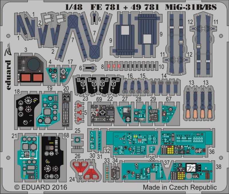 【新製品】49781)塗装済 MiG-31B/BS