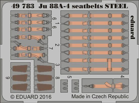 【新製品】49783)塗装済 ユンカース Ju88A-4 シートベルト