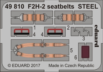 【新製品】49810)塗装済 F2H-2 バンシー シートベルト