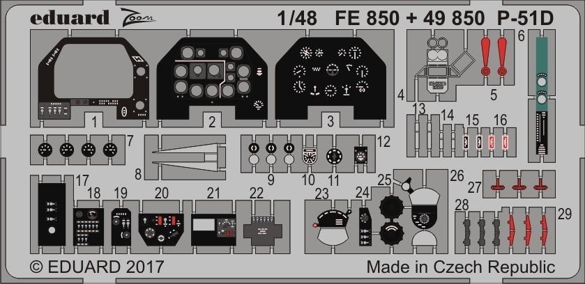 【新製品】49850)塗装済 P-51D 内装