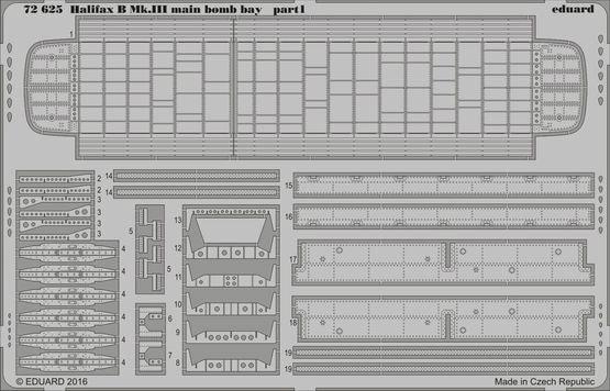 【新製品】72625)ハンドレページ ハリファックス B Mk.III 胴体爆弾倉