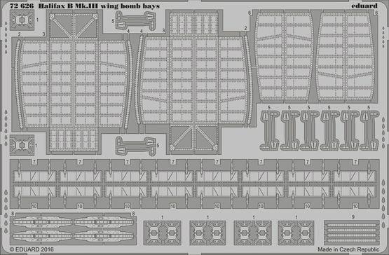 【新製品】72626)ハンドレページ ハリファックス B Mk.III 翼内爆弾倉