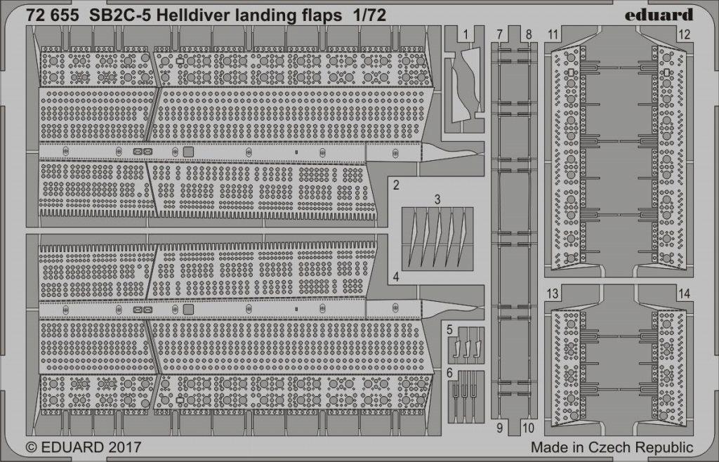 【新製品】72655)SB2C-5 ヘルダイバー ランディングフラップ
