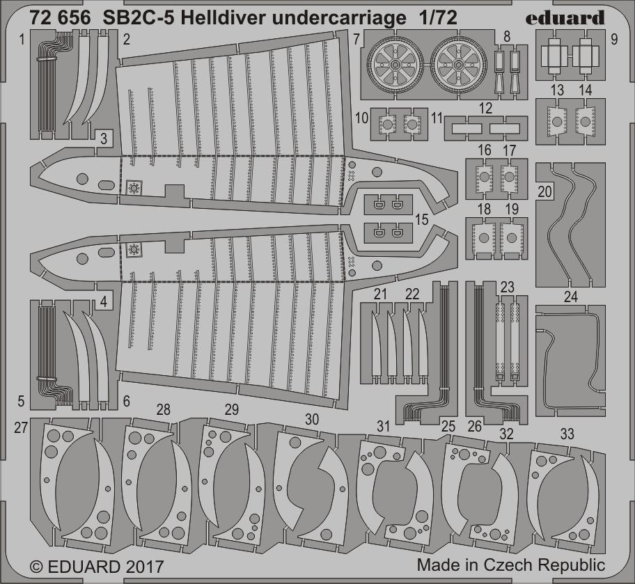 【新製品】72656)SB2C-5 ヘルダイバー 着陸装置