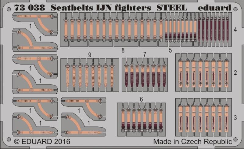 【新製品】73038)塗装済 日本海軍 戦闘機 シートベルト スチール