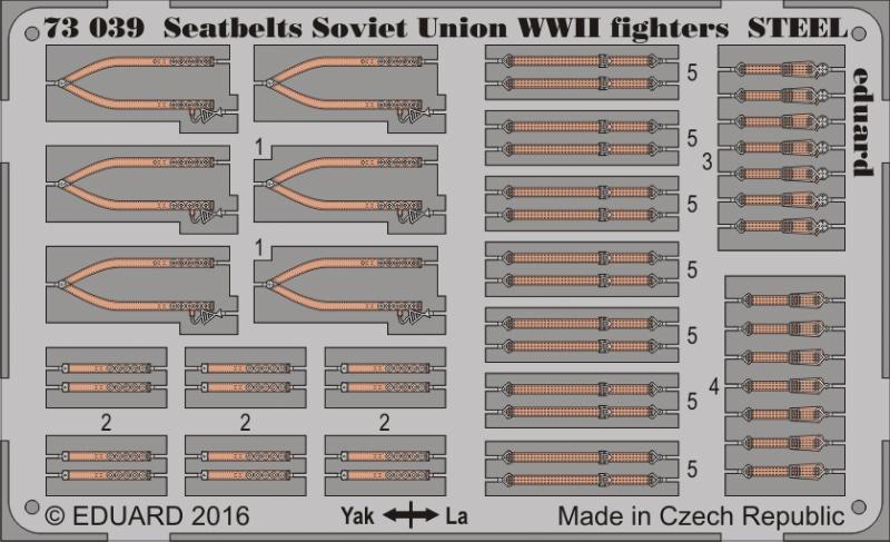 【新製品】73039)塗装済 WWII ソビエト連邦 戦闘機 シートベルト スチール