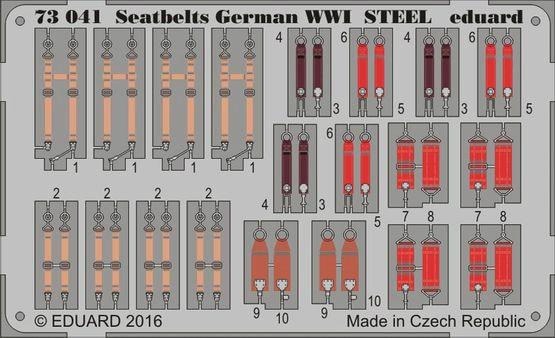 【新製品】73041)塗装済 WWI 独空軍シートベルト
