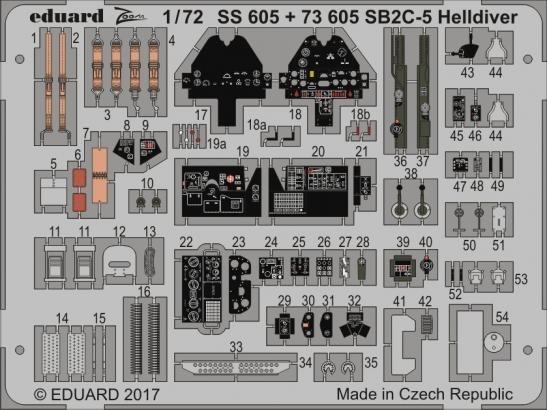 【新製品】73605)塗装済 SB2C-5 ヘルダイバー
