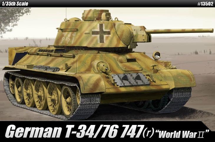 【新製品】13502)ドイツ T-34/76 747(r)