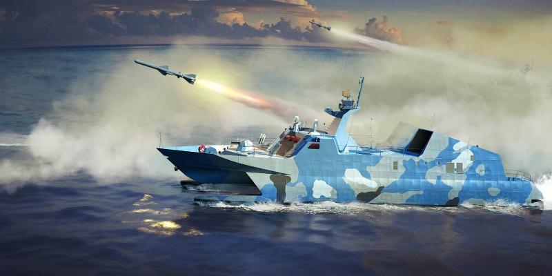 【新製品】00108)中国人民解放軍 海軍 022型 ミサイル艇