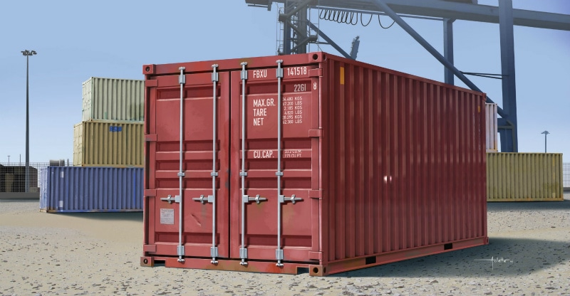 【新製品】01029)20ft 貨物輸送コンテナ