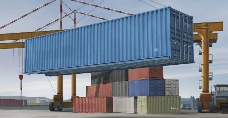 【新製品】01030)40ft 貨物輸送コンテナ