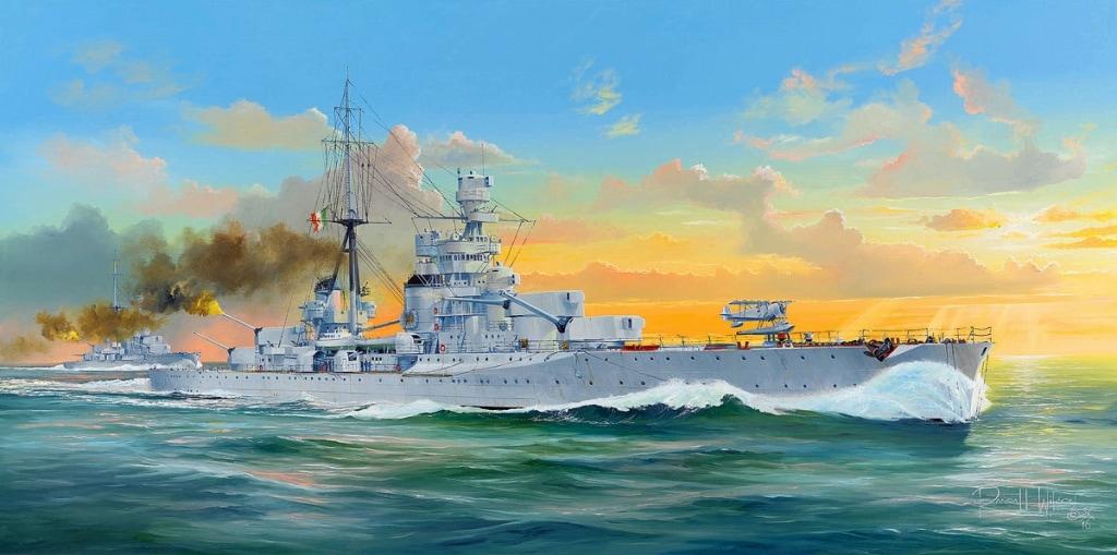 【新製品】05347)伊海軍 重巡洋艦 ザラ