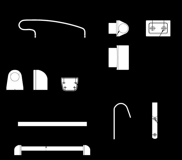 金属製ロフトはしごハイブリッドラダー用金具セット一覧