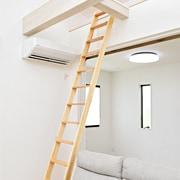 木製ロフトはしご北欧ラダーの全体画像