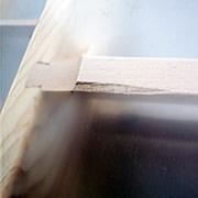 木製ロフトはしご北欧ラダー(北欧パイン)アウトレットの状態