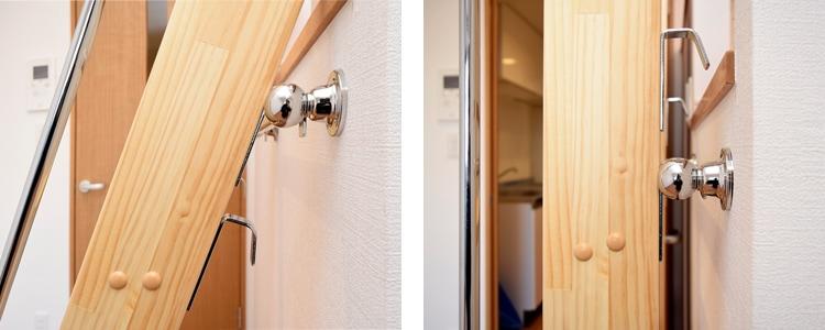 木製ロフトはしごカスタムラダー垂直収納用フック