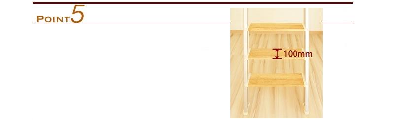 金属製ロフトはしごハイブリッドラダーは奥行のある踏板