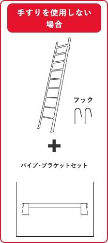 ルカーノラダー金属製ロフトはしごと手すり以外を購入の場合