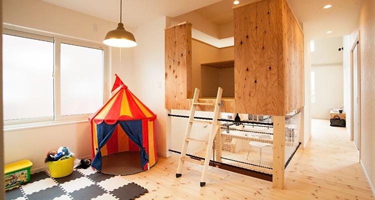 木製ロフトはしご北欧ラダーのカット例