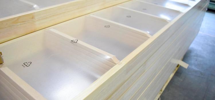 木製ロフトはしご北欧ラダーの梱包と出荷