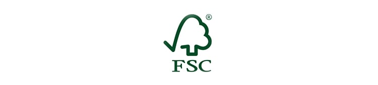 北欧産ワイドステップ木製ロフト階段はFSC認証済み