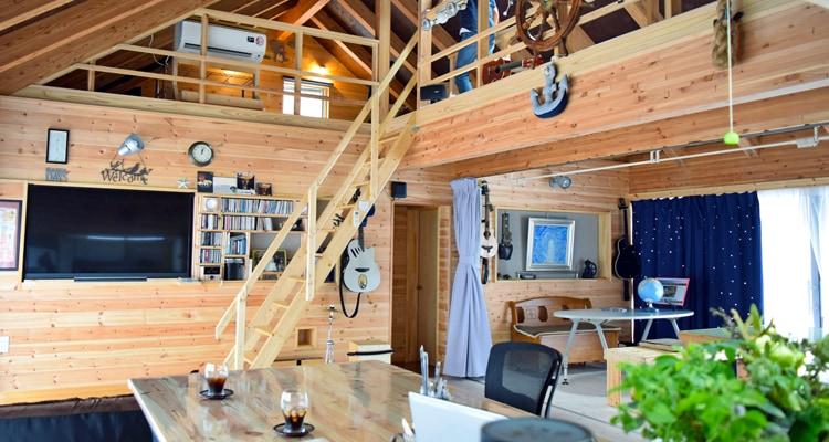 北欧産ワイドステップ木製ロフト階段だって家具なんです