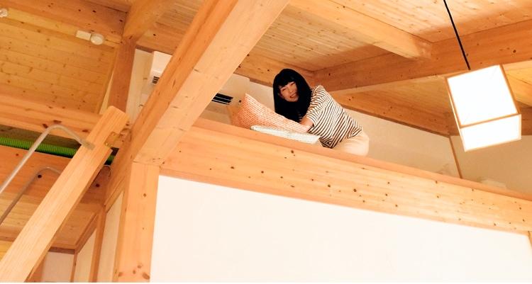 木製ロフトはしごセーフティーラダー・ロフトから眺める